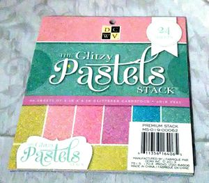 DCWV Provo Glitzy Pastels Premium Stack 24 Sheets 6 x 6 Glittered Cardstock Pad for Sale in Largo, FL