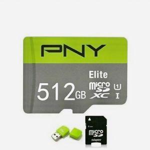 PNY ÈLITE- 512gb Memory Card! Micro SD for Sale in Waurika, OK