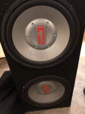 "Polk Audio 12"" Woofers / 1000w amp / 150w amp - Audio equipment for Sale in HUNTINGTN BCH, CA"
