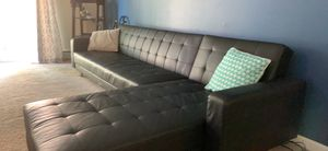 Black Leather Sofa for Sale in Eddington, PA