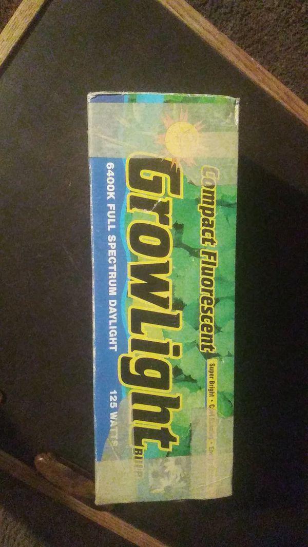 Compact fluorescent grow light bulb