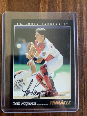 Tom Pagnozzi autograph baseball card for Sale in Ferguson, MO