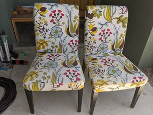 Two Ikea Dining Chairs with removable cover for Sale in Hawaiian Gardens, CA