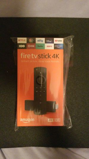 FireTV Stick 4K Streaming device with Alexa built in, Dolby Vision, includes Alexa Voice Remote, latest release for Sale in Kissimmee, FL