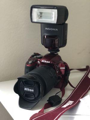 Nikon D3300 DX-format DSLR Kit w/18-55mm DX VR II & 55-200mm DX VR II Zoom Lenses for Sale in Kyle, TX