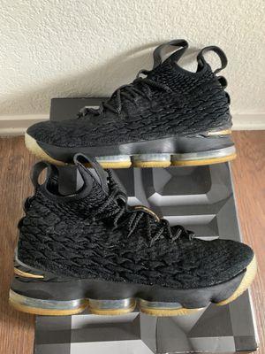 Lebron 15 Black/Gold Size 9.5 OG all for Sale in Fresno, CA