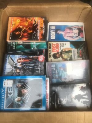 Box full of VHS movies for Sale in Cranston, RI