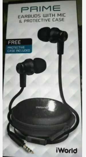 NEW UNOPENED IWORLD PRIME EARBUDS WITH MIC for Sale in Hart, MI