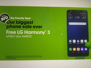 LG Harmony 3, 32 GB FREE with port in / on the $60 rate plan for Sale in Mansfield, TX