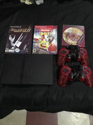 Ps2 with 3 games and 2 controllers for Sale in Queens, NY