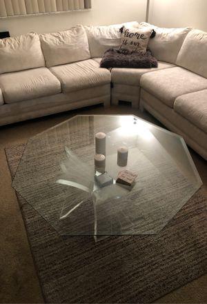 2 piece glass coffee table for Sale in Boynton Beach, FL