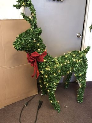 Christmas decoration- 60 in. 150-Lights Standing Topiary Buck for Sale in Tempe, AZ