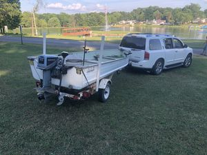 14ft Starlite aluminum fishing boat WITH 2 MOTORS!!!!!?+TROLLING MOTOR for Sale in Beaver Falls, PA