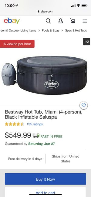 BRAND NEW BESTWAY HOT TUB BLACK INFLATABLE for Sale in Woodland Hills, CA