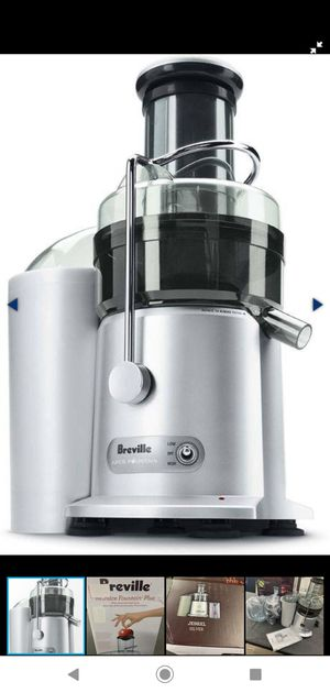 Breville JE98XL Juice Fountain Plus Centrifugal Juicer, Brushed Stainless Steel for Sale in Glendale, AZ