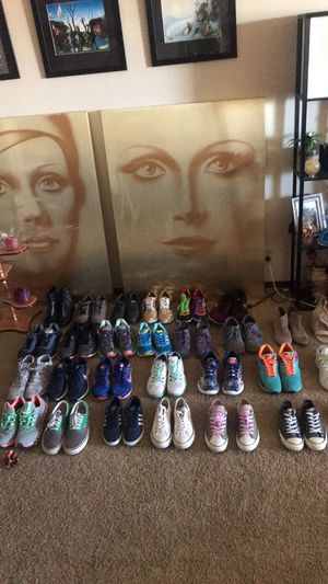 Women's and Unisex shoes! Nike, Converse, Adidas, ASICS, Vans and More mostly 6-9 women's. A lot of brand New. negotiable on all! for Sale in Omaha, NE