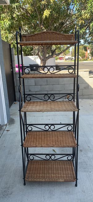 Iron baker rack 66H, 23W, 13D for Sale in Long Beach, CA