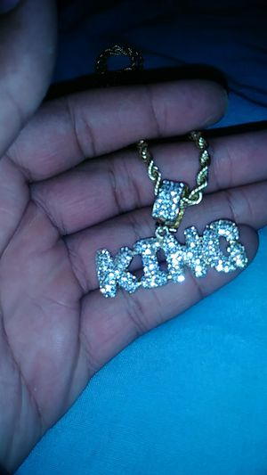 Gold chain with king charm for Sale in Pittsburgh, PA