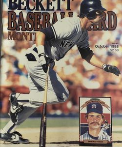 Beckett October 1988 issue # 43 Front Cover Don Mattingly, Back Cover Tim Raines Andres Galarraga. for Sale in Boston,  MA