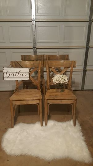 NEW Set of 4 Farmhouse Chairs for Sale in Dallas, TX