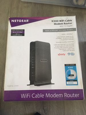Netgear N300 WiFi Cable Modem Router for Sale in Santa Ana, CA