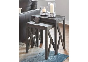 NEW, Emerdale Gray Accent Table (Set of 2), SKU# A4000229 for Sale in Westminster, CA