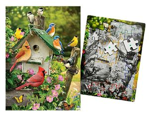 Keeping Busy Singing Around The Birdhouse 35 Piece Sequenced Jigsaw Puzzle for Sale in Melrose Park, IL
