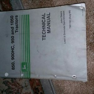 John Deer Tech.Manual for Sale in Valparaiso, IN