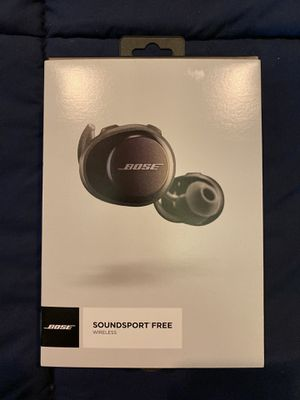 Bose Soundsport Free Wireless Earbuds Black! for Sale in Coral Springs, FL