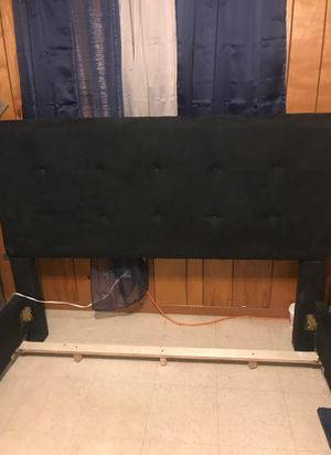 Bed Frame black Suede for Sale in Painesville, OH