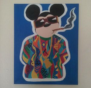Mickey Mouse as Biggie Smalls canvas painting for Sale in Cleveland, OH