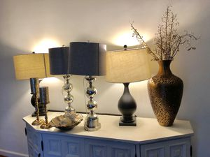 Home decor lamps candles for Sale in Downey, CA