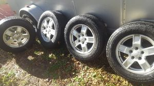 Jeep factory rims . Goodyear forterra for Sale in Gastonia, NC
