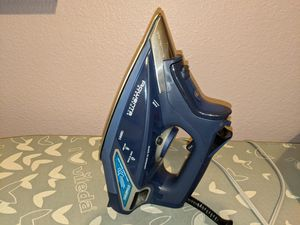 Rowenta DW9280 Digital Display Steam Iron, Stainless Steel Soleplate, 1800-Watt, 400-Hole, Blue for Sale in Coppell, TX