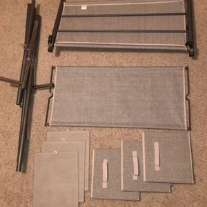 2 Tier 3 Drawer Rolling Garment Rack/ Closet Organizer for Sale in Phoenix, AZ
