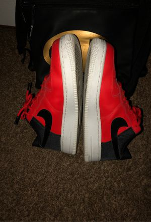 Red/white /black Air Force 1's (pick up only) for Sale in Riverside, CA