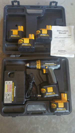 Panasonic cordless hand drill set 5 batteries for Sale in Ramsey, MN