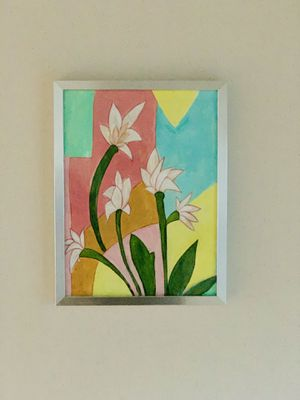 Lazy summer colorful floral painting on canvas paper for Sale in Alpharetta, GA