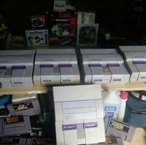 Super nintendos in stock 30 days warranty with a free game for Sale in Miami, FL