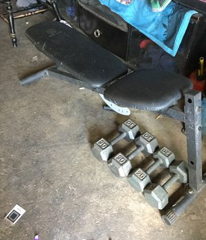 Dumbbells and bench for Sale in Fresno, CA