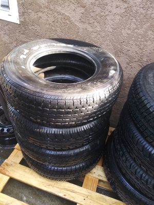 USED !... Tires. Radial service 205/75/r14 and 215/75/14 for trailer for Sale in Fresno, CA
