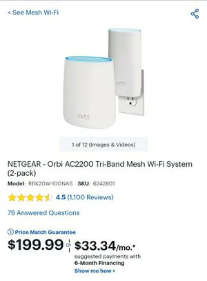 Netgear Orbi mesh wifi router system ac2200 for Sale in Columbus, OH