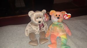 Beanie babies...signature bear..and peace bear with error for Sale in Forest Park, GA