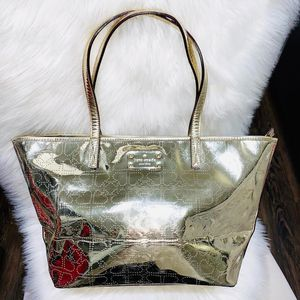 Metallic Gold Kate Spade New York Tote Purse for Sale in Chandler, AZ