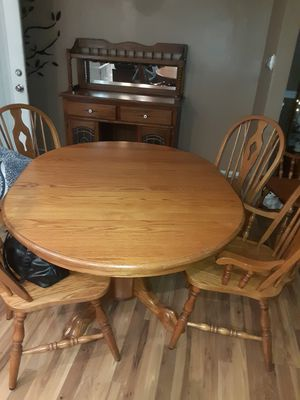 Kitchen table & buffet solid oak for Sale in Obetz, OH