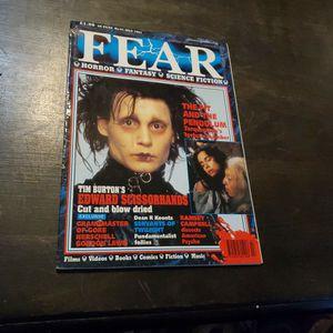 Fear #31 July 1991 Rare Horror Fantasy Science Fiction Movie Magazine, Edward Scissorhands, Tim Burton for Sale in Fresno, CA