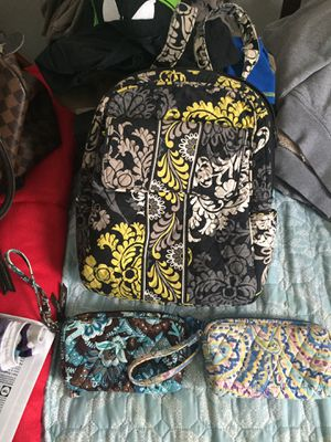 Vera Bradley backpack purse and two wallets for Sale in Obetz, OH