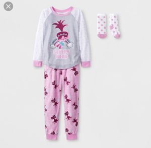 New with Tags Trolls Girls Pajamas, Size Medium - Retails for $16.99 for Sale in Wixom, MI