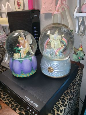 Wizard and fairy snow globes for Sale in Gresham, OR