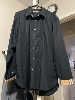 BURBERRY WILLIAM BLACK LONG SLEEVE SHIRT.SIZE XXXL SLIM FIT.AUTHENTIC for Sale in Garden Grove, CA